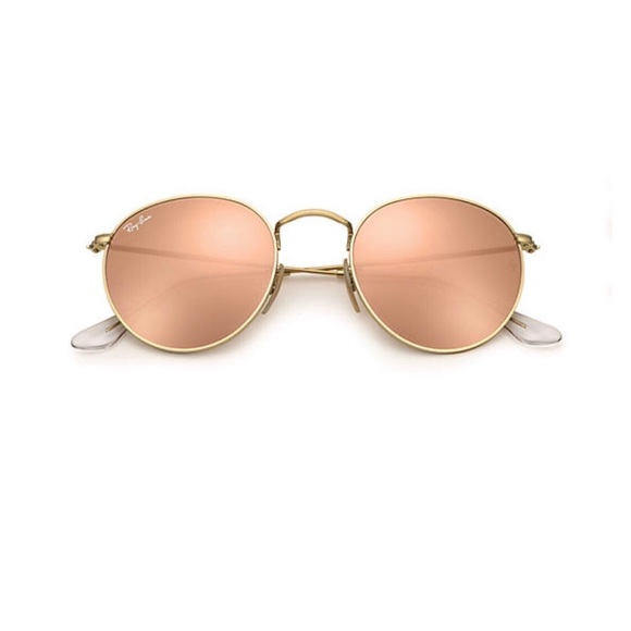 ray ban sunglasses round gold